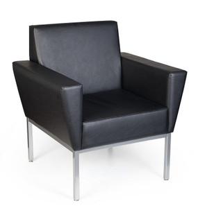 Venus Slim Profile Armchair in Canter Vinyl Onyx