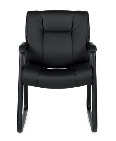Offices to Go Luxhide Sled Base Guest Arm Chair front view