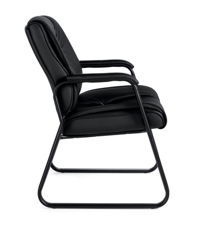 Offices to Go Luxhide Sled Base Guest Arm Chair