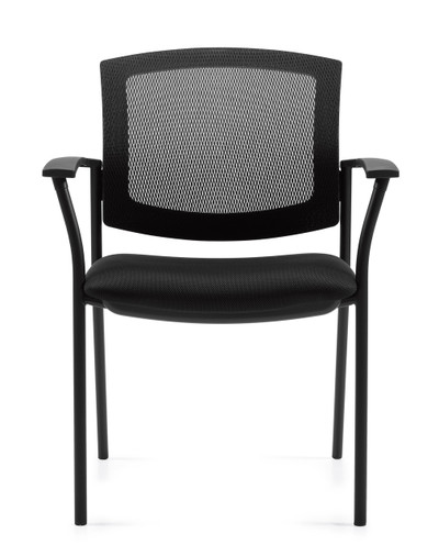 Offices to Go Mesh Back Guest Arm Chair front view