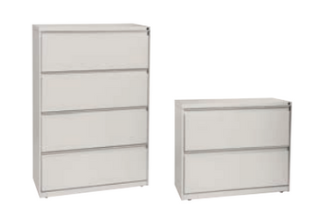 WaveWorks® Metal Lateral Files - 2 and 4 drawer