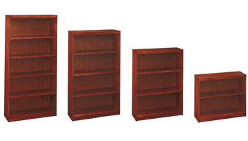 Universal Hardwood Veneer Bookcases