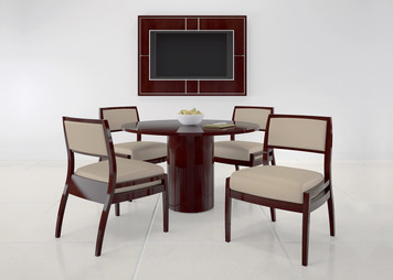Universal Round Table with Laminate Top and Base