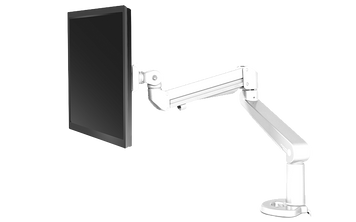 Edge Single Monitor Arm, white finish