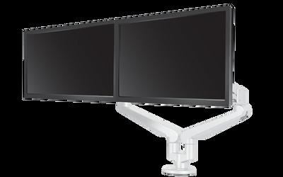 Edge 2 Dual Monitor Arm, white finish