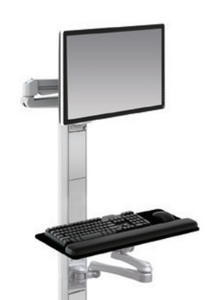ESI Titan Edge Single Track Wall Workstation