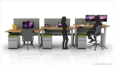 Illustration Shows Pedestals w/ Aloe Green Toppers & Privacy Screens on Activ-Pro 2 models