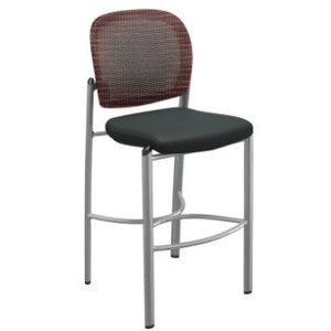 Valore Bistro Stool in burgundy