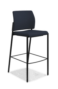 Accommodate Cafe Stool in black fabric