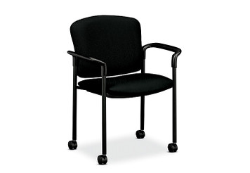 Pagoda Upholstered Stacking Guest Chair with casters