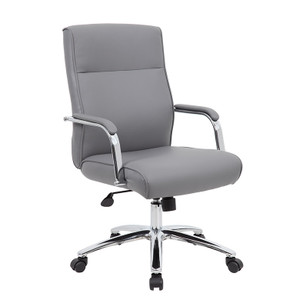 CaressoftPlus Conference Chair with Lumbar Grey