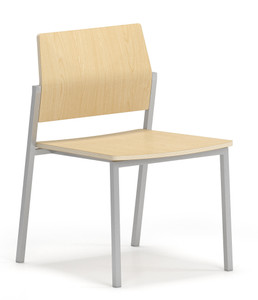 Avon Guest/Reception Chair with Laminate Back and Seat in Natural Maple, no arms