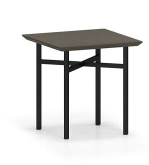 Avon Square End Table in Walnut laminate