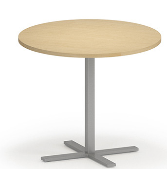 """Avon Round Cafe Table 30"""" Tall with Natural Maple laminate top and edgeband"""