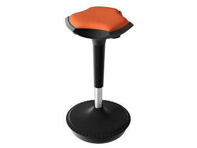 Compel Pogo Active Stool, Orange Flexi fabric ships in 6-10 days!