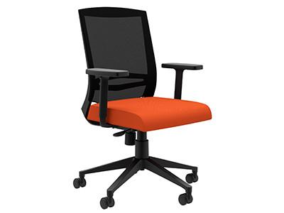 Compel Derby Synchro-tilt Tasker, Orange Flexi fabric