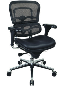 EuroTech Ergohuman Leather Mesh Executive
