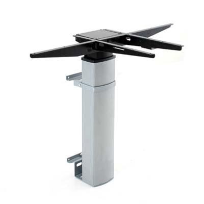 501-19 Single Column Wall Laminate Electric Sit-Stand Desk, silver base