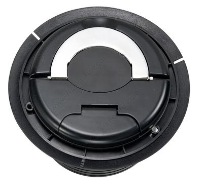 Black plastic top recessed