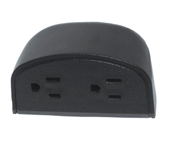 Mini Power and Data Receptacle, 2 Power Outlets