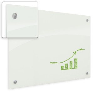 Enlighten Non-Magnetic Glass Dry Erase Whiteboard