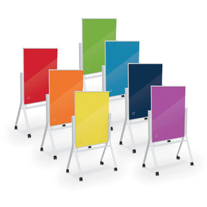 Visionary® Curve Magnetic Glass Dry Erase Board, All Colors