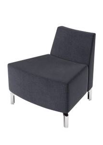 Jefferson Lounge Series - Outside Curve Chair, charcoal