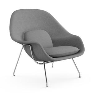 KnollStudio Saarinen Womb Chair, Classic Boucle Smoke, with Chrome legs
