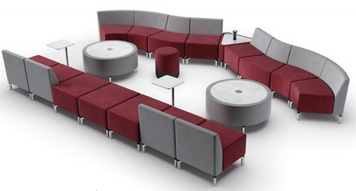 Jefferson Lounge Series - Smile Typical, burgundy and taupe