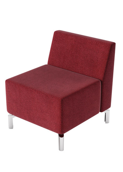 Straight Chair, burgundy