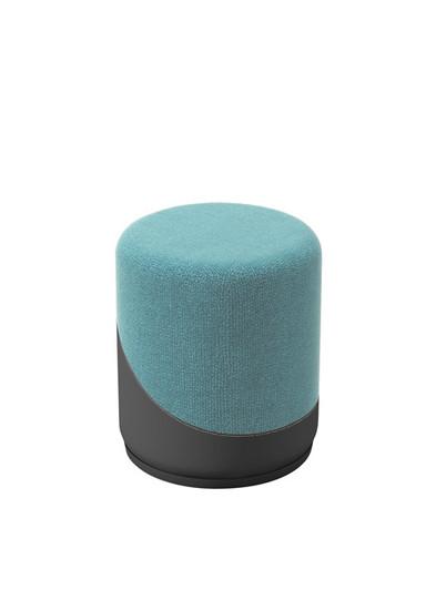 Upholstered Stool, light blue