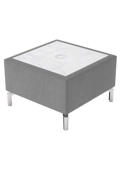 Square Table, taupe