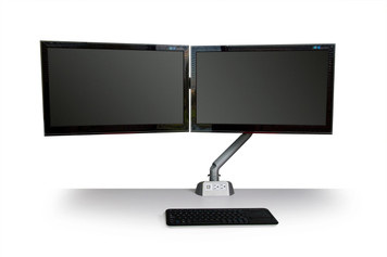 Symmetry King Cobra Dual Array Monitor Arm with Power & USB Module