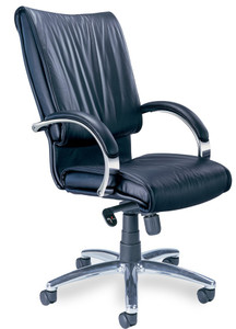 Mayline Mercado Leather President Chair