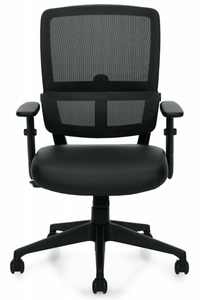 Mesh Back Tilter with Luxhide Seat