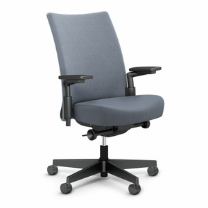Remix Work Chair Special Order Delite Fabric in Slate with High Performance Arms