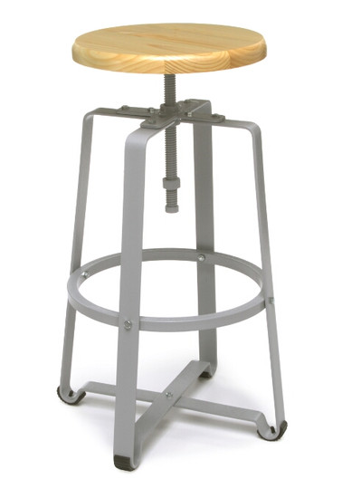 920 Endure Tall Stool, Maple seat with Gray frame