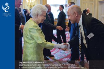 FloorTex receiving the Queen's Award in 2015