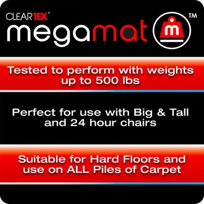 FloorTex ClearTex Big & Tall Megamat for Hard Floors & All Pile Carpet