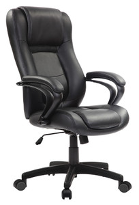 EuroTech Pembroke Executive Leather Tilter in Black Eco-leather