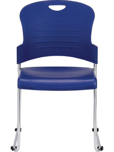 EuroTech Aire Medium Density Stack Chair in Navy Shell