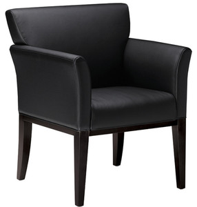 Mayline Mercado Wood Guest Chair VSC9 with Black Legs