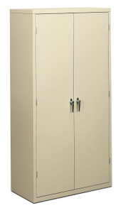 "Brigade Metal Storage Cabinet, 72"" x 24"" Putty"