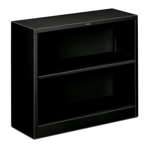 Brigade Steel Bookcase, 2 shelf in black