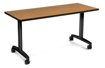 "Flip Top 60"" Huddle Table, Harvest top"