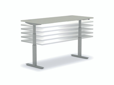 Coordinate Height-Adjustable Desk Base ONLY, height adjustment detail