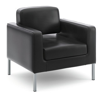 Leather Modern Club Chair