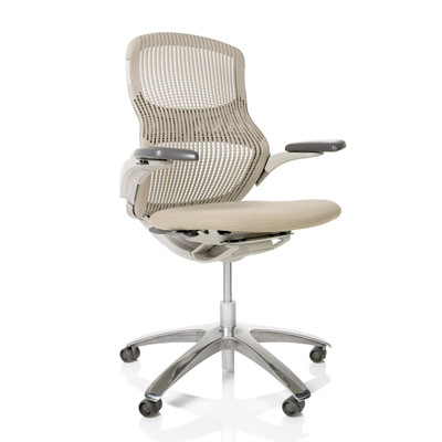 Generation by Knoll Quick Ship with light frame, aluminum base and pebble mesh and fabric