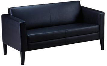 Mayline Prestige Lounge Settee Black Legs