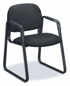 Solutions Sled Base Guest Chair, Black CU10 fabric